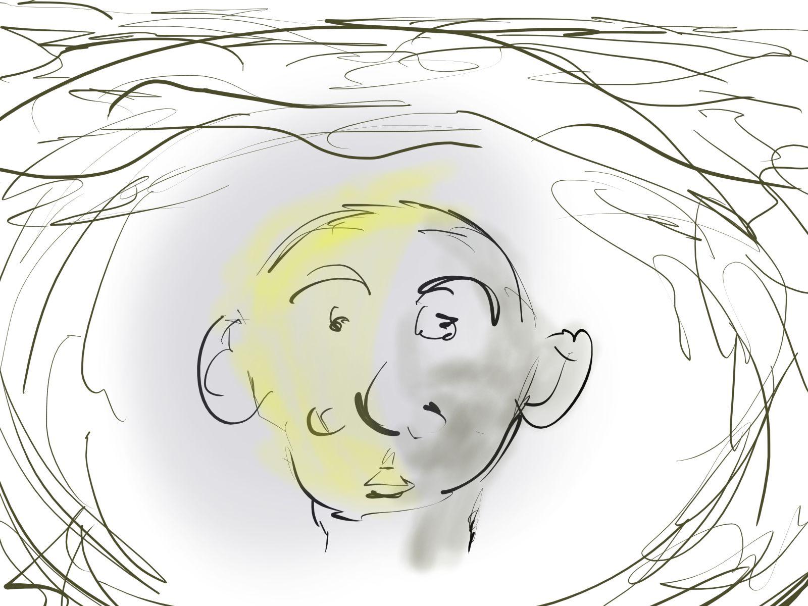 Retrato sobre pana
